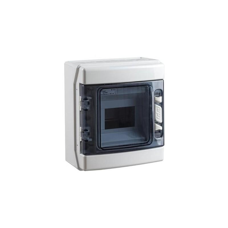Caja Superficie Estanca 6 Módulos IP-65 Gris