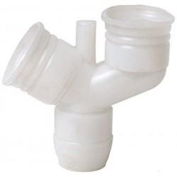 Te  Y  Diam 16 tubo currugado con purga