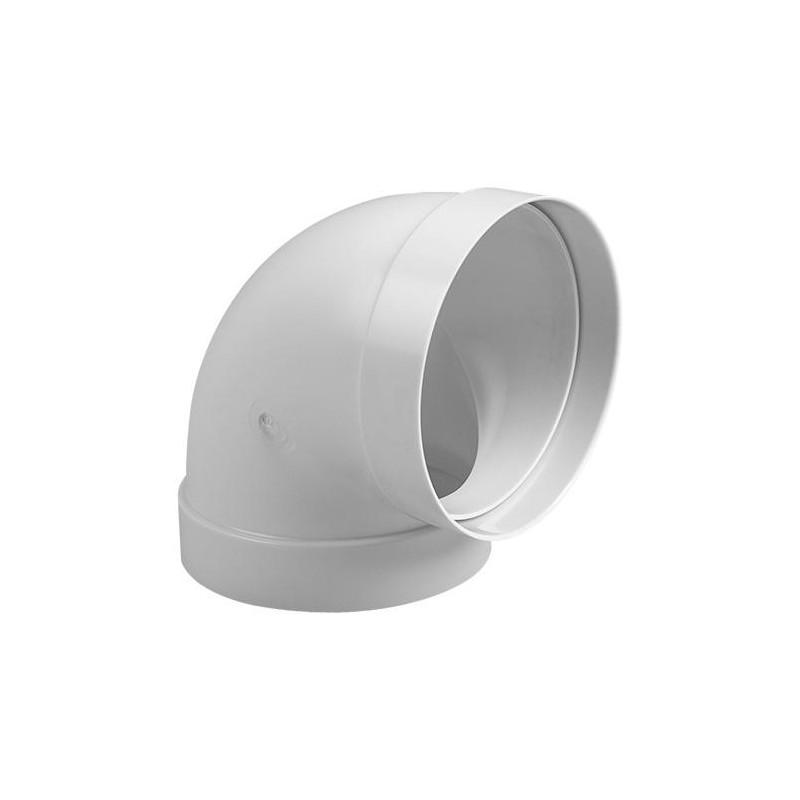 Codo PVC Blanco Redondo 125