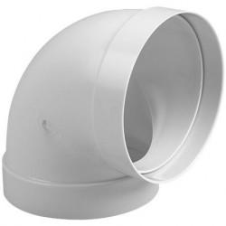 Codo PVC Blanco Redondo 100
