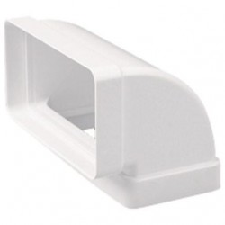 Codo Vertical PVC Blanco Rectangular 110x55 mm