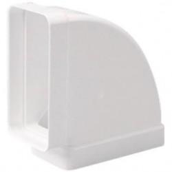 Codo Horizontal PVC Blanco Rectangular 150x75 mm