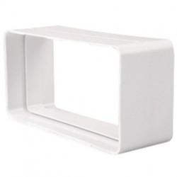 Unión PVC Blanco Rectangular 110x55 mm