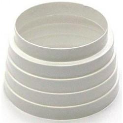 Reducción PVC Blanco Redondo 125-120-100