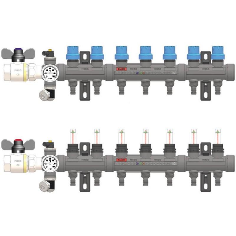 Colector Tecnopolímero PA GF Completo 7 Vías