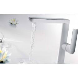 Grifo lavabo blanco serie loft colors TRES