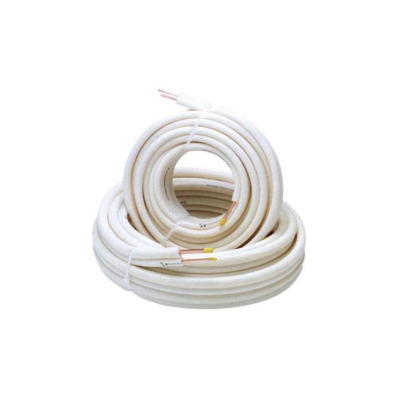 Rollo 25 mts cobre tubo aislado  3/8 x0 8mm