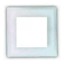 Marco de cristal blanco Fontini 2 elementos