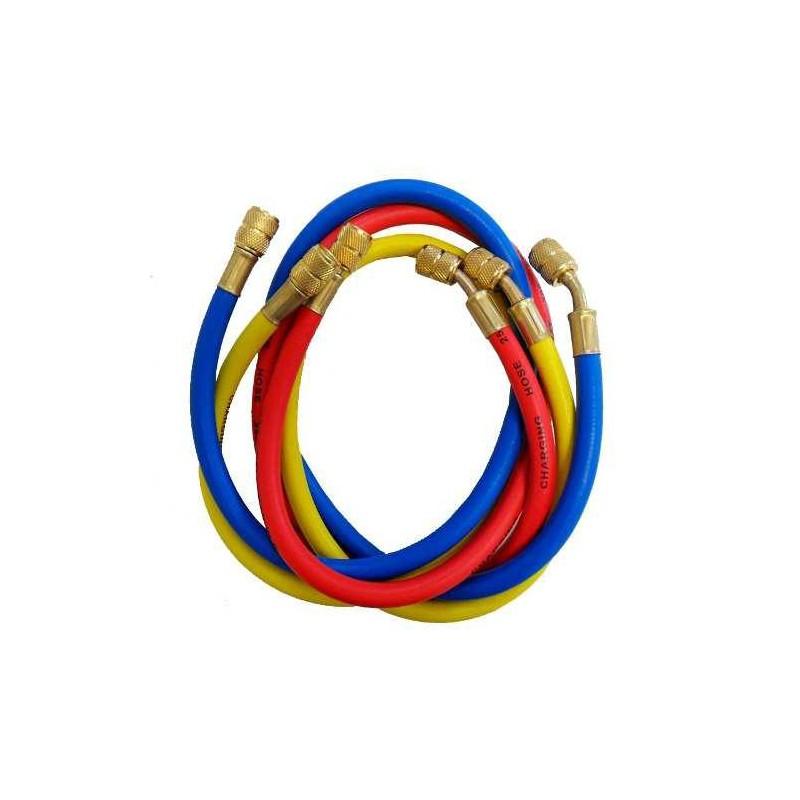 Manguera 1/4 X1500mm J/Teflon cl60R-Roja