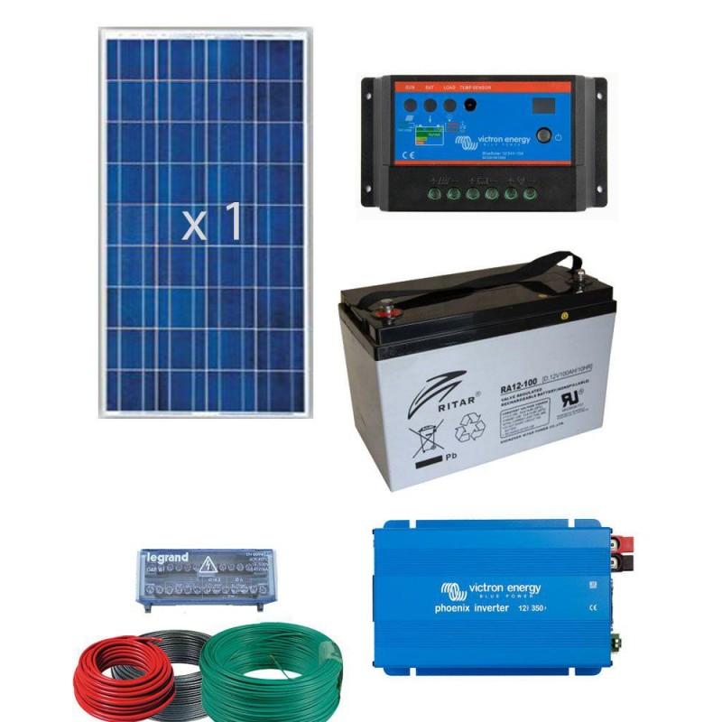 Equipo solar para suministro electrico 1600W