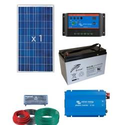 Equipo solar para suministro electrico 1000W