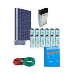 Equipo solar para suministro electrico 3 300W
