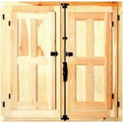 Ventana madera con cristal Al  80 x an  80cm