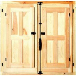 Ventana practicable madera Al  80 x an  80cm
