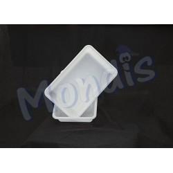 Cubeta rectangular blanca Dicaproduct CUB013