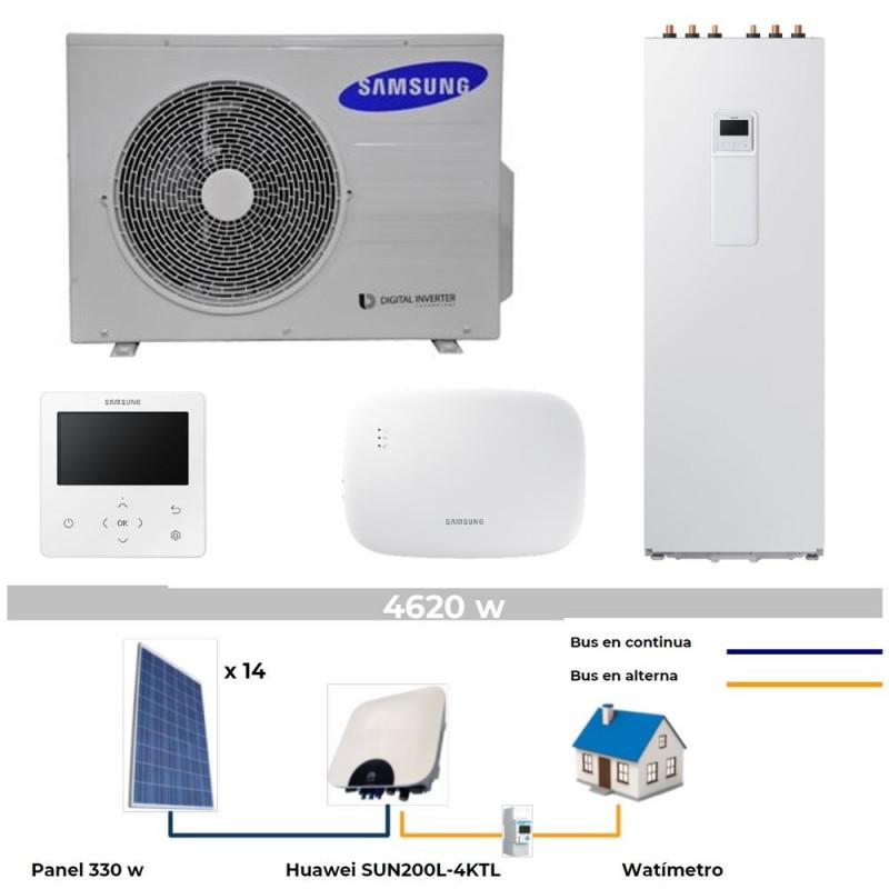 Aerotermia Samsung 8kW Placas 4kW  Inst  incluida