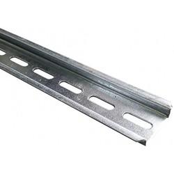 Perfil DIN Omega Perforado Galvanizado F224AG  Mt