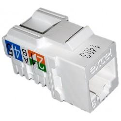 Conector Hembra RJ45 CAT 6 Blanco Excel 100-011
