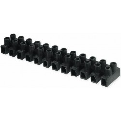 Regleta Conexión Polipropileno Negra 16mm2