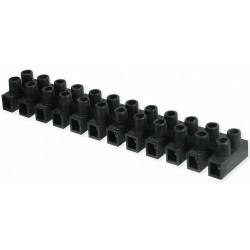 Regleta Conexión Polipropileno Negra 6mm2