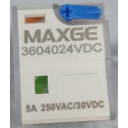 Relé Miniatura Maxge 4NOC 24V DC