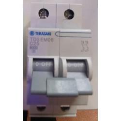 Magnetotérmico Terasaki MCB 2P 6kA C-25