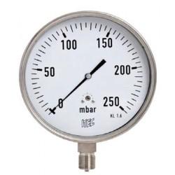 Ventómetro diámetro 60 mm vertical gas 1/4  60 mba