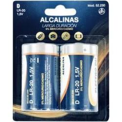 Pila Alcalina LR-20 D  Pack 2 uds