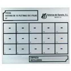 Placa Identificación 3 Filas 45 Contadores