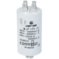 Condensador Trabajo Permanente 8 μF 450V