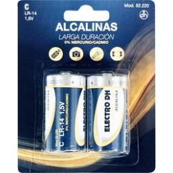 Pila Alcalina LR-14 / C  Pack 2