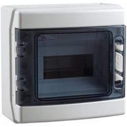 Caja Superficie Estanca 8 Módulos IP-65 Gris